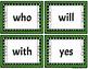 Kindergarten Dolch Sight Word Cards