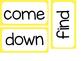 Kindergarten Sight Words ~ Yellow Polka Dots