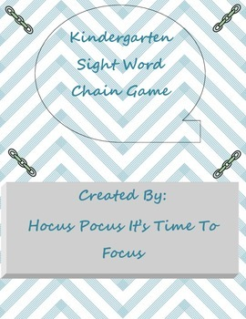 Kindergarten Dolch Sight Word Chain Game