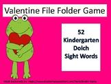 52 Kindergarten Dolch Sight Word File Folder Game