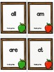 Kindergarten Dolch Sight Word Flashcards Apple theme