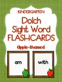 Kindergarten Dolch Sight Word Flashcards Apple theme