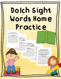 Kindergarten Dolch Sight Word Practice EDITABLE