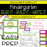 Kindergarten Dolch Sight Words: READ It - BUILD It - WRITE