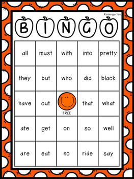 Kindergarten Dolch Sight Word Resource Pack (Primer)