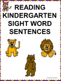 "Reading Kindergarten ""Sight Word Sentences"" (Worksheets)"