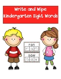 Kindergarten Dolch Sight Word Write and Wipe