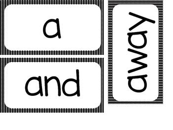 Kindergarten Dolch Sight Words ~ Black Polka Dots