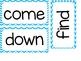 Kindergarten Dolch Sight Words ~ Blue Chevron