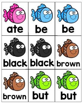 Kindergarten Dolch Sight Words Go Fish!