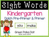 Kindergarten Dolch Sight Words ~ Green Polka Dots