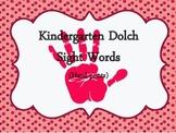 Kindergarten Dolch Sight Words Hand Prints