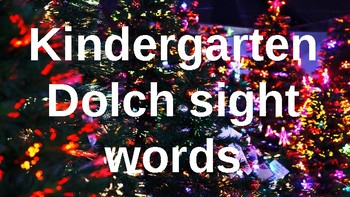 Kindergarten Dolch Sight Words Powerpoint - Christmas Lights