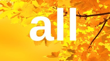 Kindergarten Dolch Sight Words Powerpoint - Fall leaves
