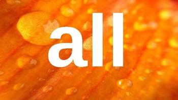 Kindergarten Dolch Sight Words Powerpoint - Oranges