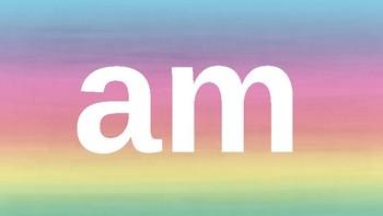 Kindergarten Dolch Sight Words Powerpoint - Rainbow