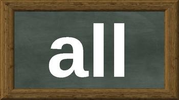 Kindergarten Dolch Sight Words Powerpoint - chalkboard