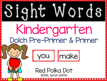 Kindergarten Dolch Sight Words ~ Red Polka Dots
