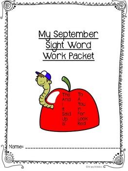 Kindergarten Sight Words FREEBIE!