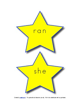 Kindergarten Dolch Word Bulletin Board Stars