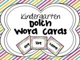 Kindergarten Dolch Word Cards