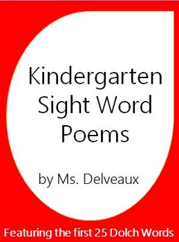 Kindergarten Dolch Word Poems