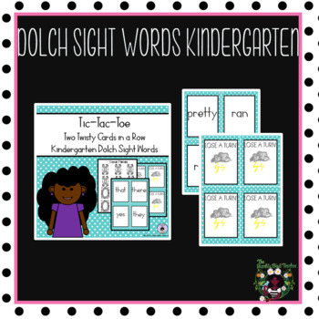 Kindergarten Dolch Word Tic-Tac-Toe