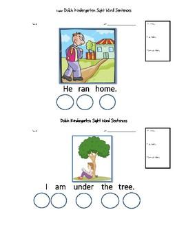 Kindergarten Dolch Words Bingo Dabber Sentences