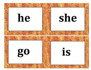 Kindergarten Dolch Words - Eric Carle Background