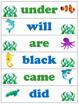 Kindergarten Dolch Words Sight Wall Pack