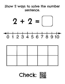 Kindergarten Doubles Addition Number Sentence Posters