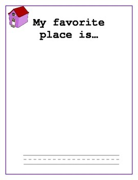 Kindergarten Draw and Write or Dicate about person, place, and thing