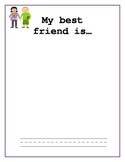 Kindergarten Draw and Write or Dicate about person, place,
