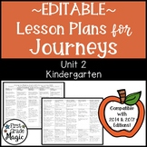 Journeys Lesson Plans Kindergarten Unit 2 EDITABLE