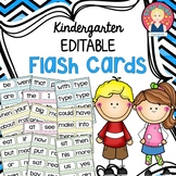 Back to School EDITABLE Sight Words Flashcards for Kindergarten