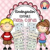 EDITABLE Sight Word Flashcards for Kindergarten