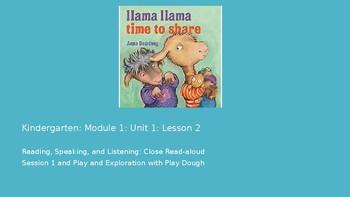 Kindergarten EL Module 1 Unit 1 Lesson 2