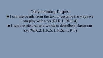 Kindergarten EL Module 1 Unit 2 Lesson 6