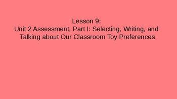 Kindergarten EL Module 1 Unit 2 Lessons 9