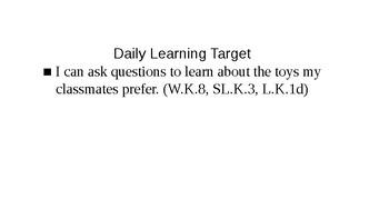 Kindergarten EL Module 1 Unit 3 Lesson 9