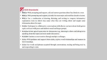 Kindergarten EL Module 2 Unit 1 Lesson 11