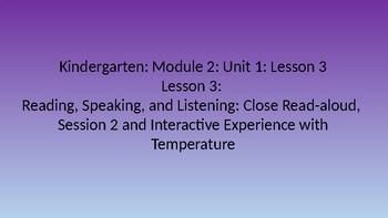 Kindergarten EL Module 2 Unit 1 Lesson 3
