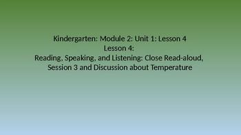 Kindergarten EL Module 2 Unit 1 Lesson 4