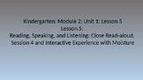 Kindergarten EL Module 2 Unit 1 Lesson 5