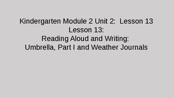 Kindergarten EL Module 2 Unit  2 Lesson 13