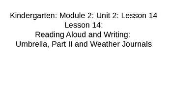Kindergarten EL Module 2 Unit 2 Lesson 14