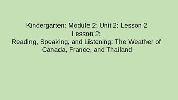 Kindergarten EL Module 2 Unit 2 Lesson 2