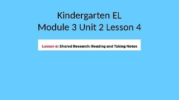 Kindergarten EL Module 3 Unit 2 Lesson 4