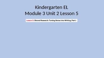 Kindergarten EL Module 3 Unit 2 Lesson 5
