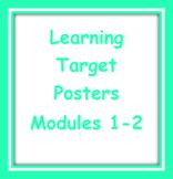 Kindergarten EL Modules 1-2 Learning Target Posters
